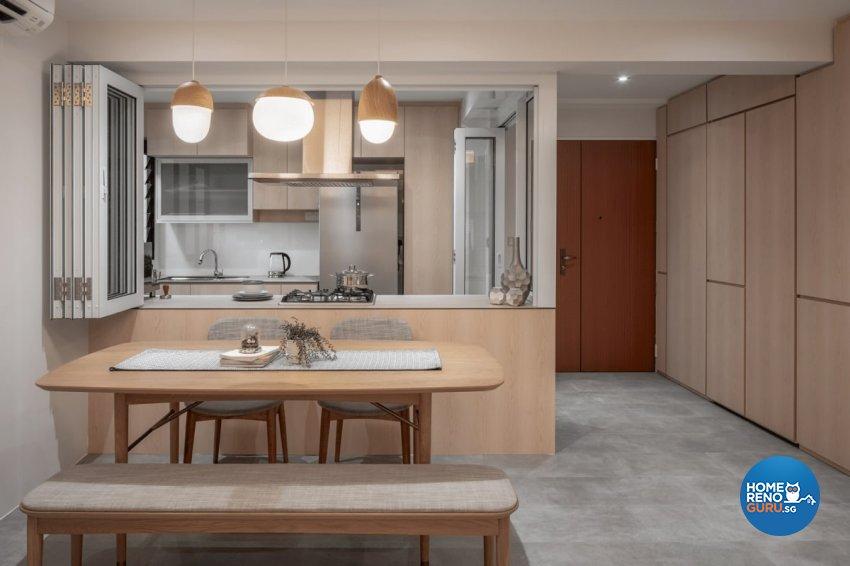 Scandinavian Design - Dining Room - HDB 4 Room - Design by Weiken.com Design Pte Ltd