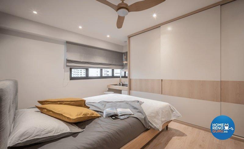 Scandinavian Design - Bedroom - HDB 4 Room - Design by Weiken.com Design Pte Ltd