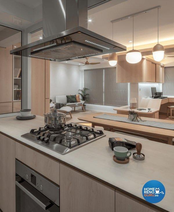 Scandinavian Design - Kitchen - HDB 4 Room - Design by Weiken.com Design Pte Ltd