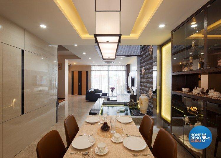 Eclectic, Modern, Vintage Design - Dining Room - Landed House - Design by Weiken.com Design Pte Ltd