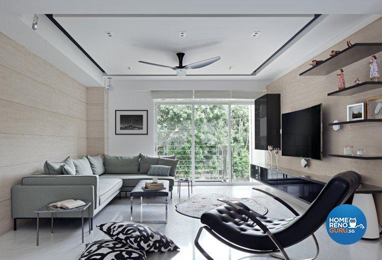 Eclectic, Minimalist Design - Living Room - Landed House - Design by Weiken.com Design Pte Ltd