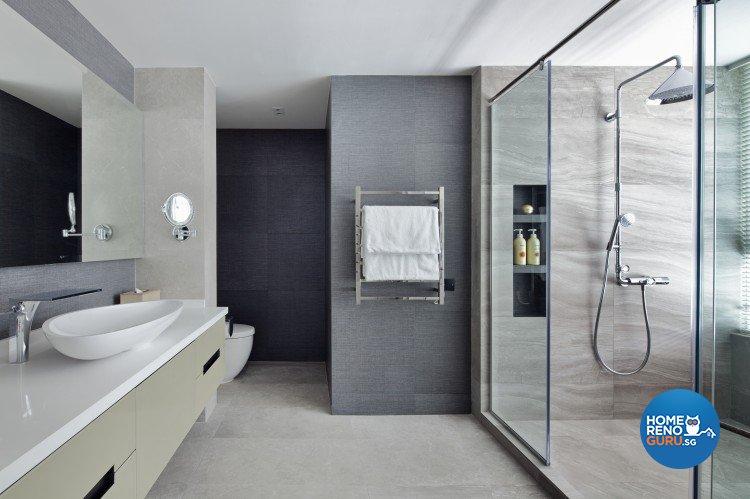 Eclectic, Minimalist Design - Bathroom - Landed House - Design by Weiken.com Design Pte Ltd