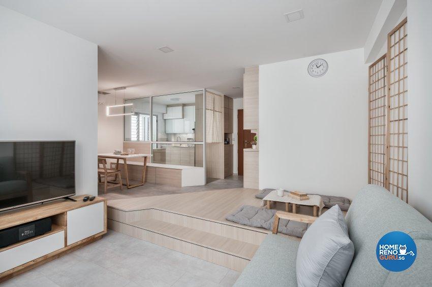 Minimalist, Others Design - Living Room - HDB 4 Room - Design by Weiken.com Design Pte Ltd