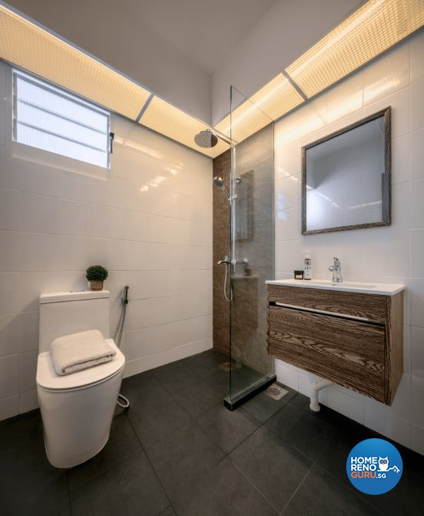 Scandinavian Design - Bathroom - HDB 4 Room - Design by Weiken.com Design Pte Ltd