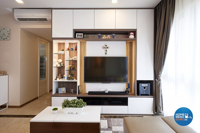 Contemporary Design - Living Room - Condominium - Design by Weiken.com Design Pte Ltd
