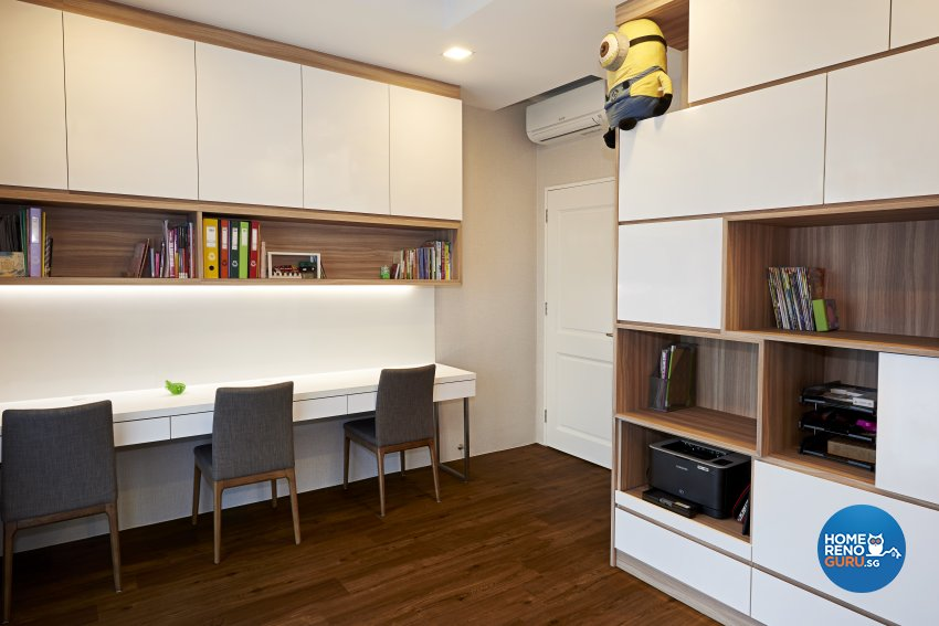 Contemporary Design - Study Room - Condominium - Design by Weiken.com Design Pte Ltd