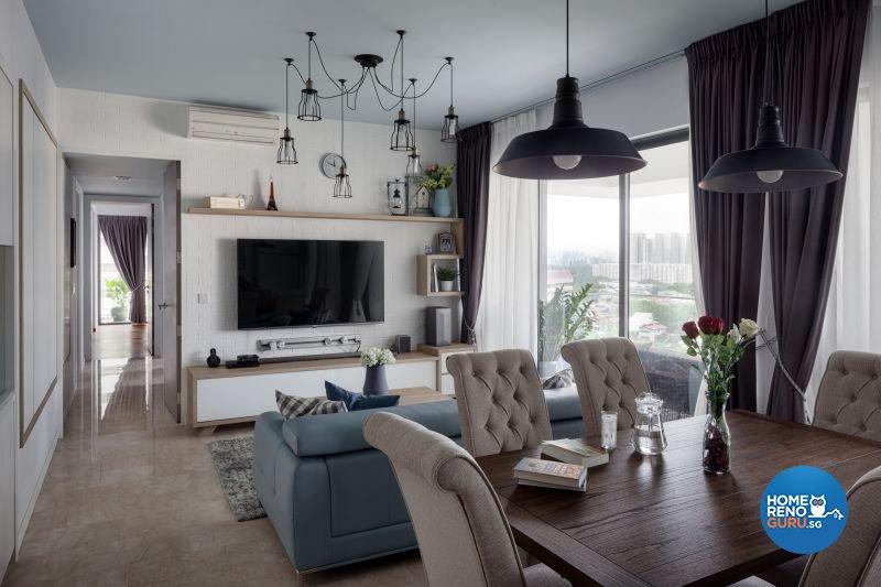 Classical, Country, Modern Design - Living Room - Condominium - Design by Weiken.com Design Pte Ltd
