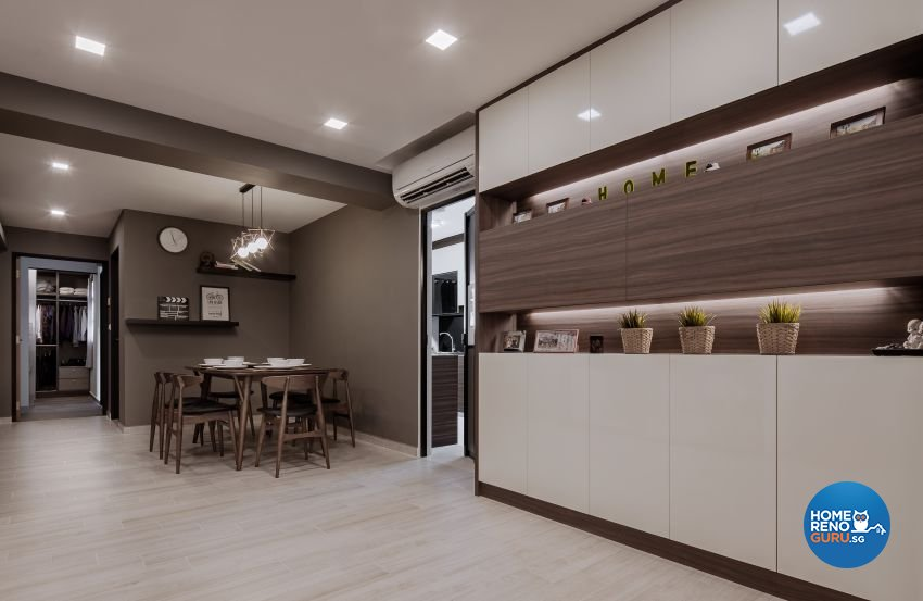 Minimalist Design - Dining Room - HDB 5 Room - Design by Weiken.com Design Pte Ltd