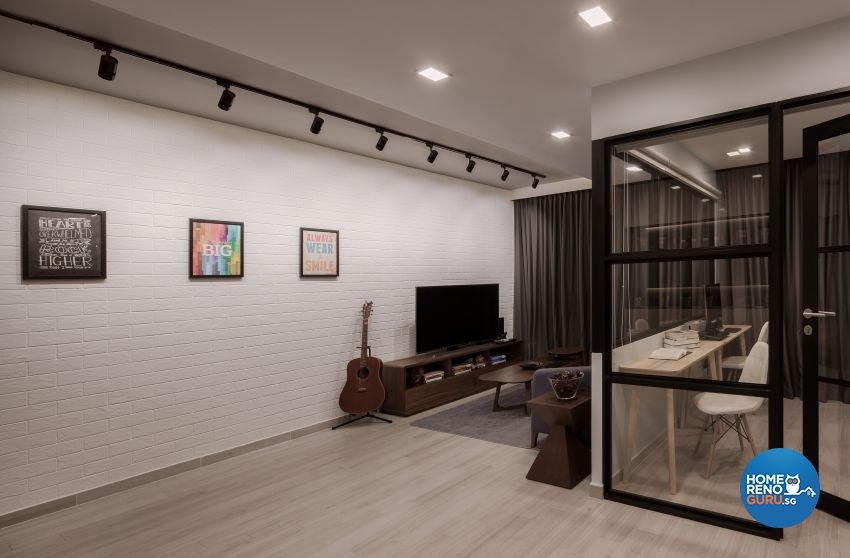 Minimalist Design - Living Room - HDB 5 Room - Design by Weiken.com Design Pte Ltd