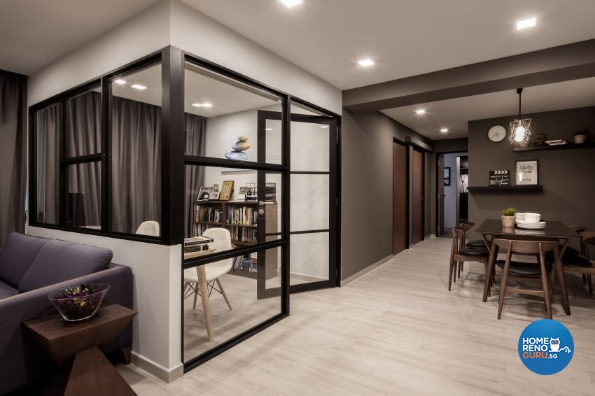 Minimalist Design - Entertainment Room - HDB 5 Room - Design by Weiken.com Design Pte Ltd