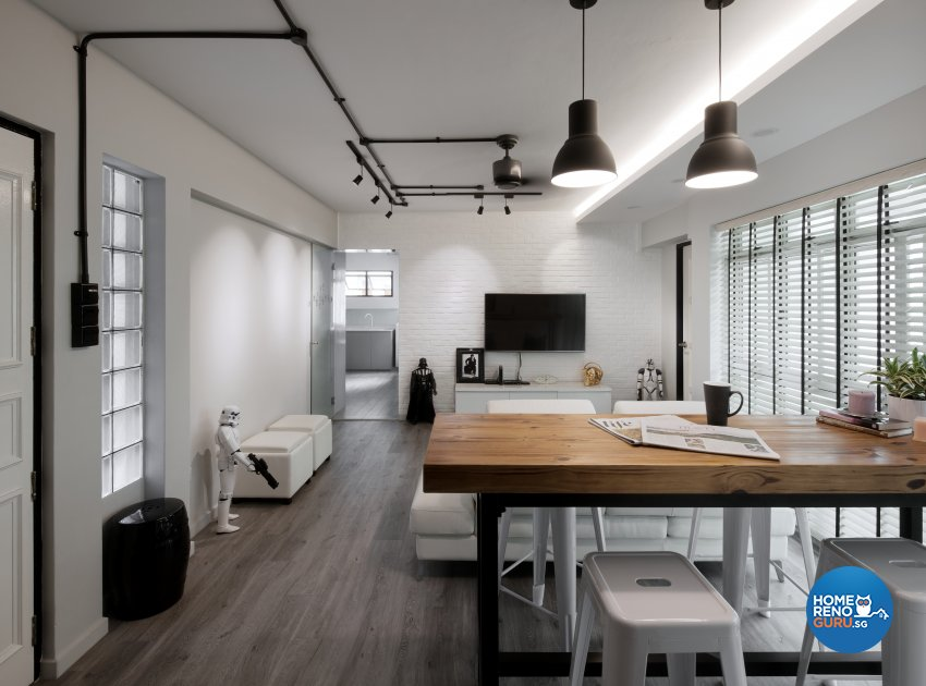 Scandinavian Design - Living Room - HDB 4 Room - Design by Weiken.com Design Pte Ltd