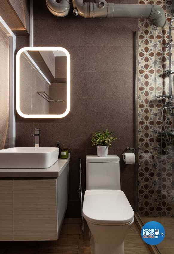 Scandinavian Design - Bathroom - HDB 4 Room - Design by Weiken.com Design Pte Ltd