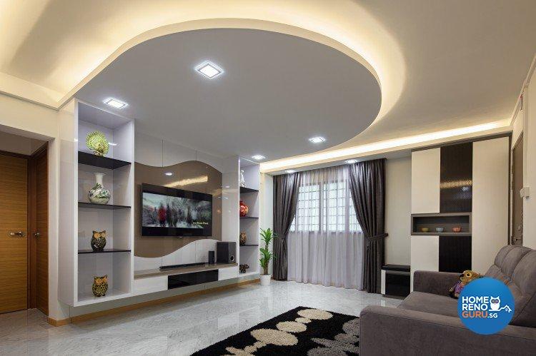 Eclectic, Modern Design - Living Room - HDB 4 Room - Design by Weiken.com Design Pte Ltd