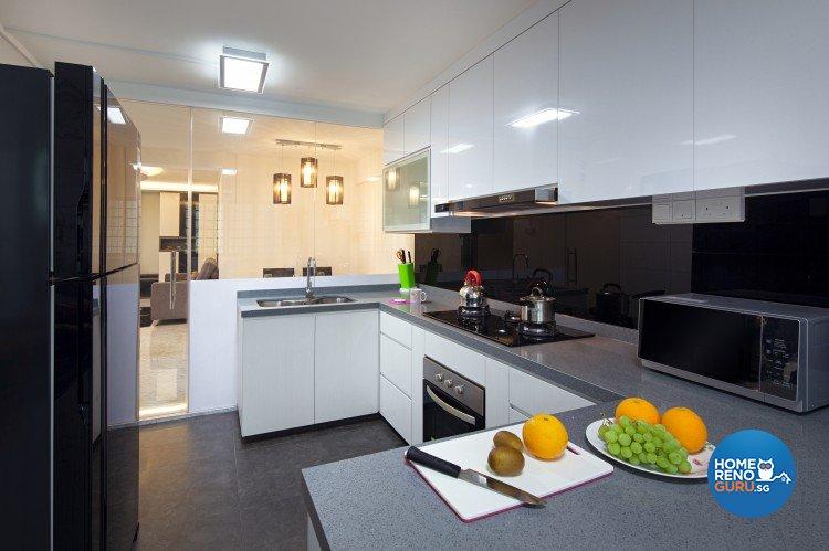 Eclectic, Modern Design - Kitchen - HDB 4 Room - Design by Weiken.com Design Pte Ltd