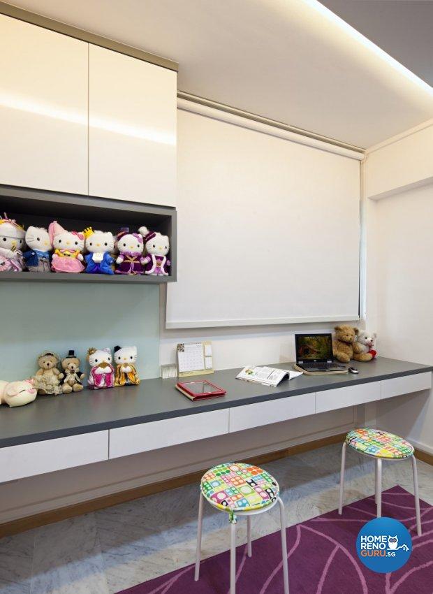 Eclectic, Modern Design - Study Room - HDB 4 Room - Design by Weiken.com Design Pte Ltd