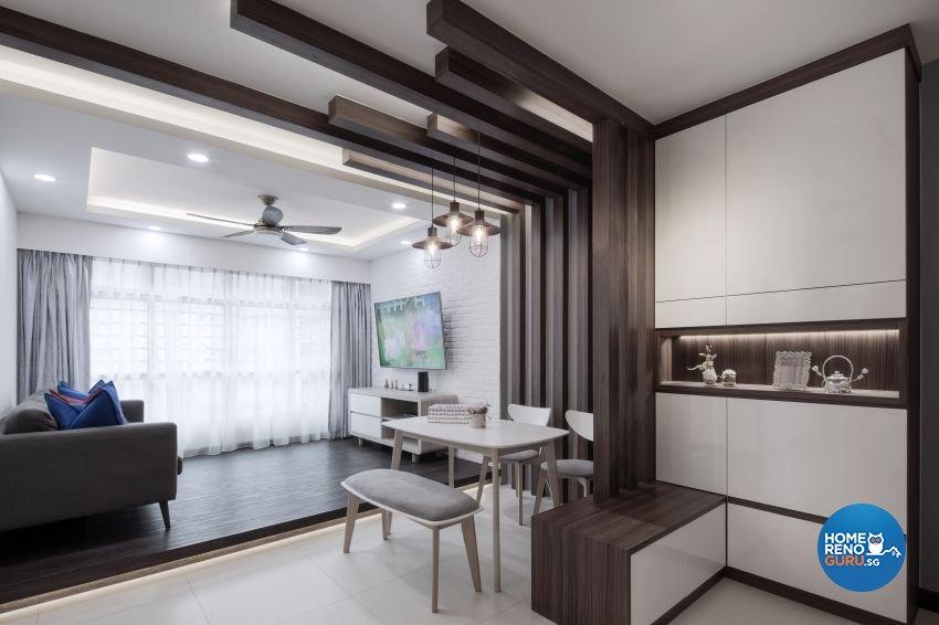 Minimalist Design - Dining Room - HDB 4 Room - Design by Weiken.com Design Pte Ltd