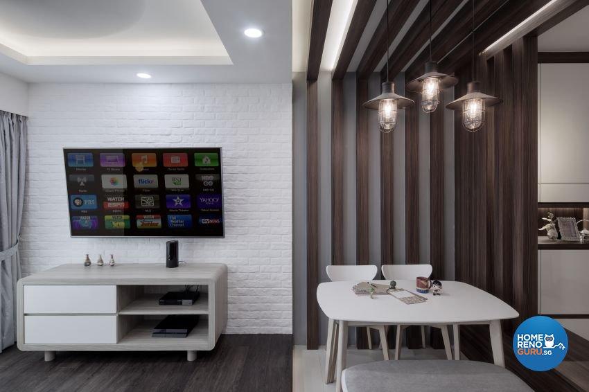 Minimalist Design - Living Room - HDB 4 Room - Design by Weiken.com Design Pte Ltd
