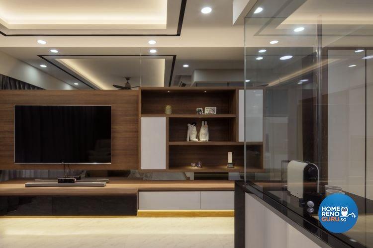 Contemporary, Modern Design - Living Room - HDB 3 Room - Design by Weiken.com Design Pte Ltd