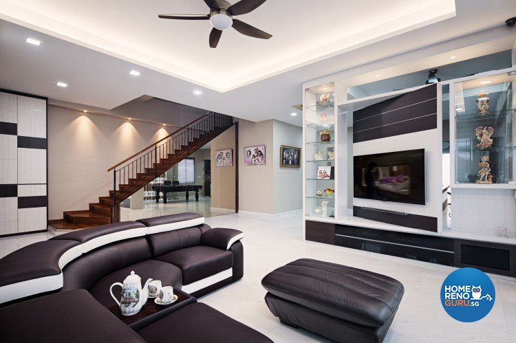 Classical, Contemporary, Modern Design - Living Room - Landed House - Design by Weiken.com Design Pte Ltd