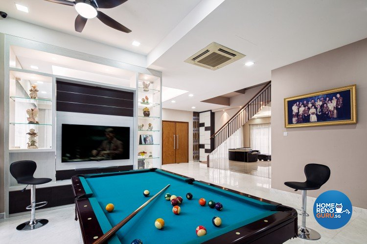 Classical, Contemporary, Modern Design - Entertainment Room - Landed House - Design by Weiken.com Design Pte Ltd