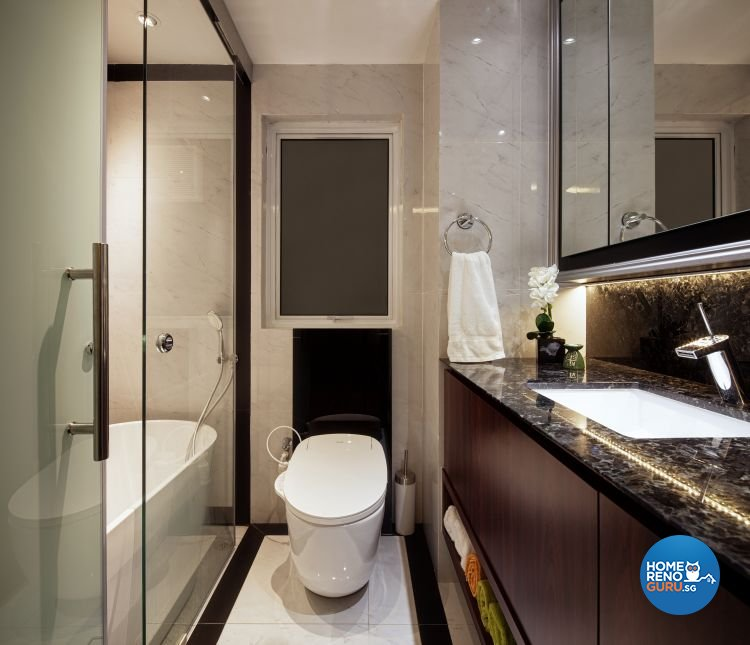 Contemporary, Minimalist Design - Bathroom - Condominium - Design by Weiken.com Design Pte Ltd