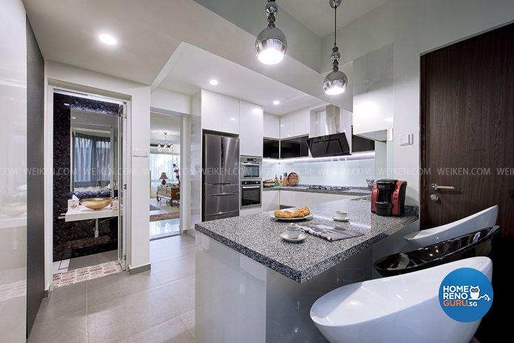 Tropical Design - Kitchen - Condominium - Design by Weiken.com Design Pte Ltd