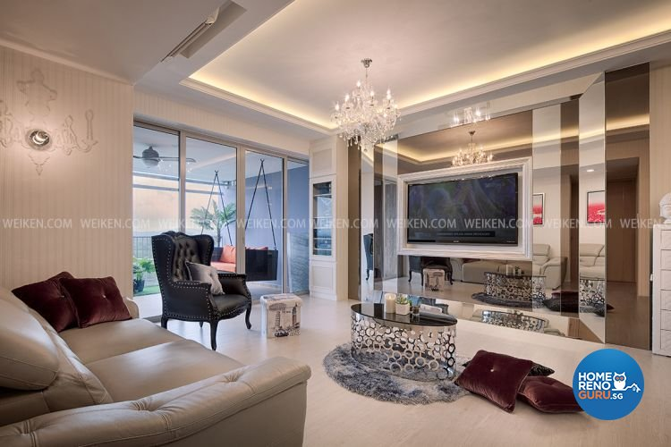 classical contemporary resort design living room condominium design by weiken - Weiken Interior Design