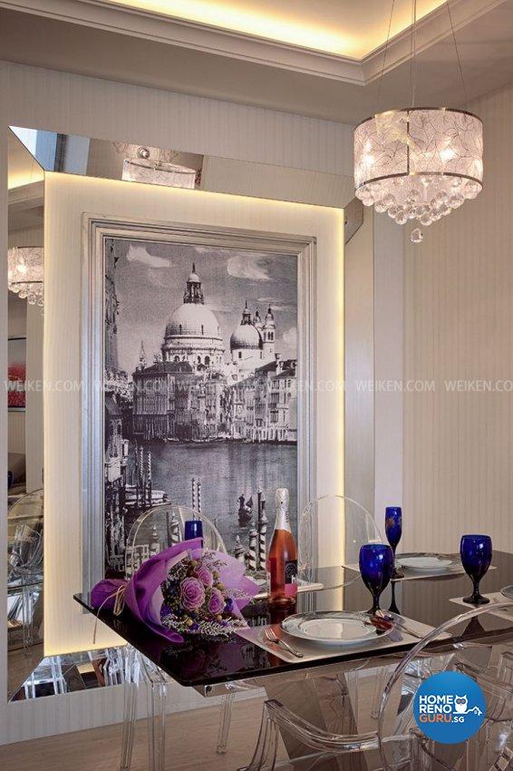 Classical, Contemporary, Resort Design - Dining Room - Condominium - Design by Weiken.com Design Pte Ltd