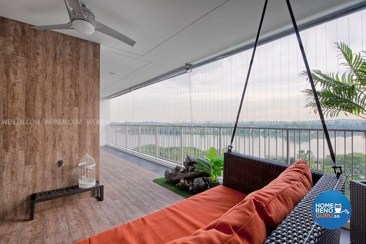 Classical, Contemporary, Resort Design - Balcony - Condominium - Design by Weiken.com Design Pte Ltd