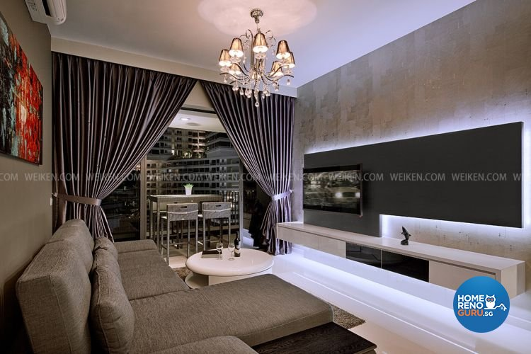 classical modern design living room condominium design by weikencom design - Weiken Interior Design