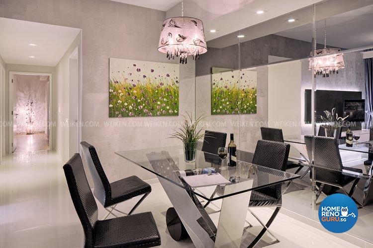 Classical, Modern Design - Dining Room - Condominium - Design by Weiken.com Design Pte Ltd