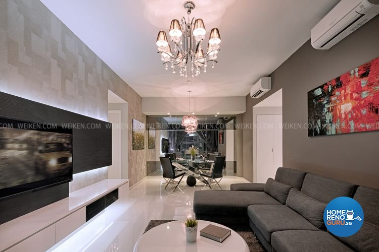 Classical, Modern Design - Living Room - Condominium - Design by Weiken.com Design Pte Ltd