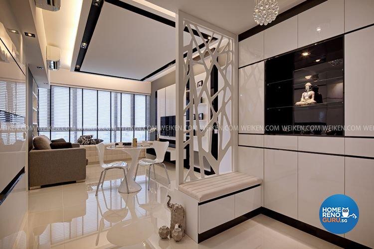 Contemporary, Minimalist Design - Dining Room - Condominium - Design by Weiken.com Design Pte Ltd