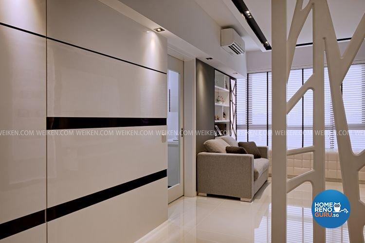 Contemporary, Minimalist Design - Living Room - Condominium - Design by Weiken.com Design Pte Ltd