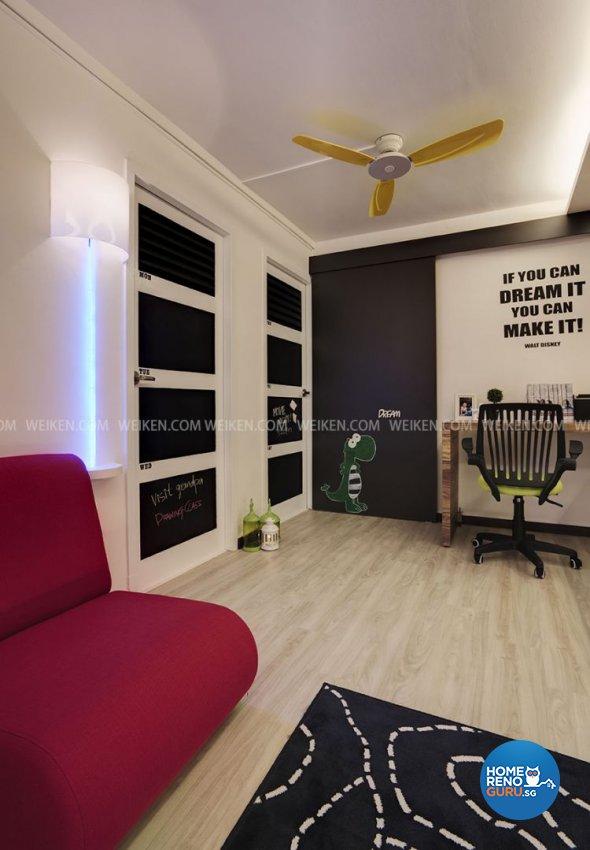 Contemporary, Modern, Retro Design - Living Room - HDB 3 Room - Design by Weiken.com Design Pte Ltd