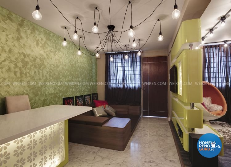 Modern, Retro Design - Dining Room - HDB 3 Room - Design by Weiken.com Design Pte Ltd