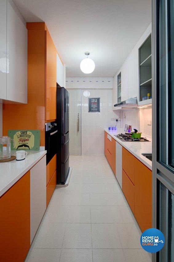 Industrial, Modern, Scandinavian Design - Kitchen - HDB 4 Room - Design by Weiken.com Design Pte Ltd