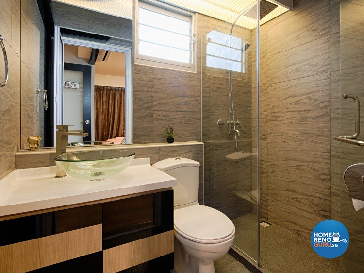 Industrial, Modern, Scandinavian Design - Bathroom - HDB 4 Room - Design by Weiken.com Design Pte Ltd
