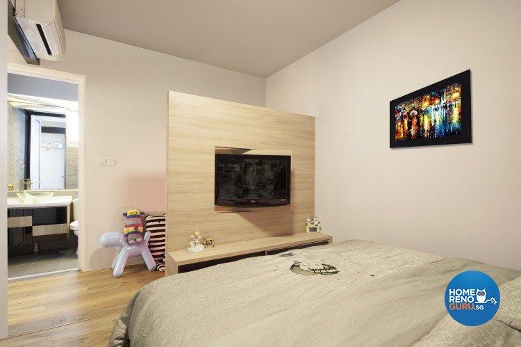 Industrial, Modern, Scandinavian Design - Bedroom - HDB 4 Room - Design by Weiken.com Design Pte Ltd