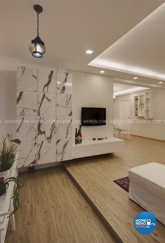 Contemporary, Modern, Victorian Design - Living Room - HDB 4 Room - Design by Weiken.com Design Pte Ltd