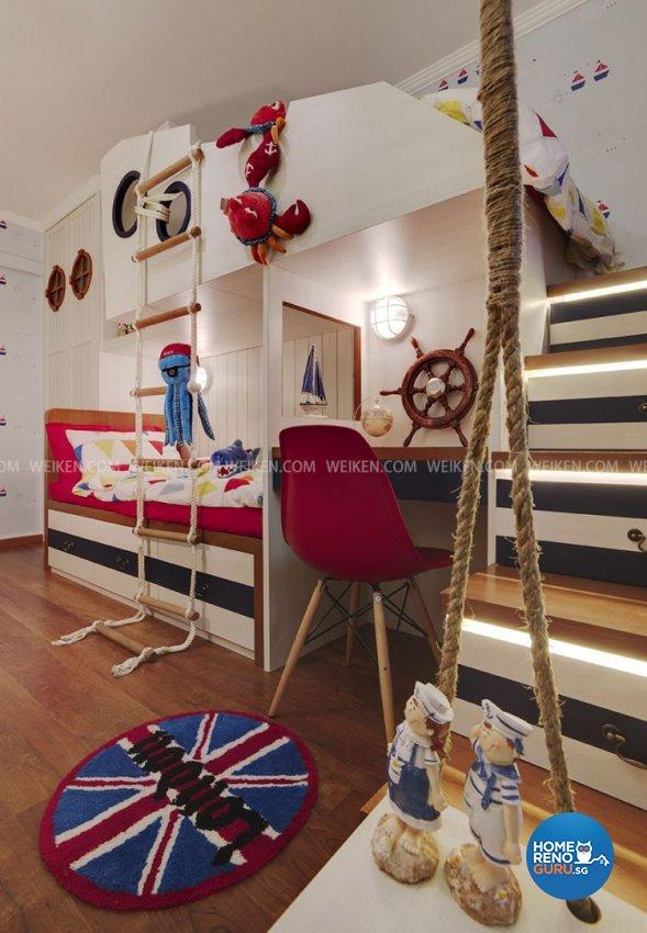 Mediterranean, Modern, Scandinavian Design - Bedroom - HDB 4 Room - Design by Weiken.com Design Pte Ltd