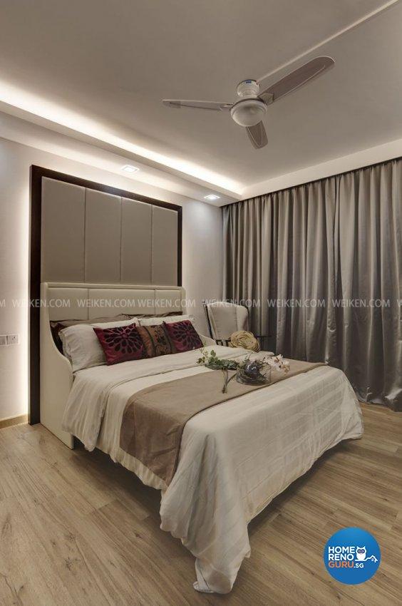Classical, Contemporary, Modern Design - Bedroom - HDB 4 Room - Design by Weiken.com Design Pte Ltd