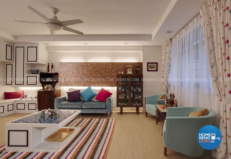 Classical, Victorian, Vintage Design - Living Room - HDB 4 Room - Design by Weiken.com Design Pte Ltd