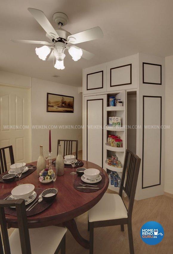 Classical, Victorian, Vintage Design - Dining Room - HDB 4 Room - Design by Weiken.com Design Pte Ltd