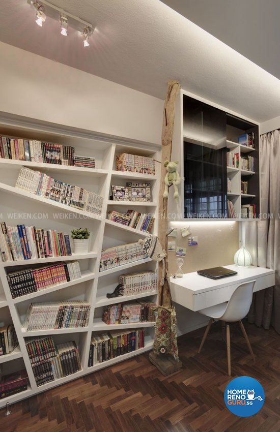 Classical, Contemporary, Modern Design - Study Room - HDB 5 Room - Design by Weiken.com Design Pte Ltd