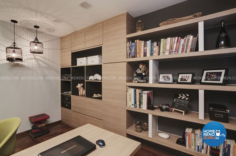 Classical, Contemporary, Modern Design - Study Room - HDB 5 Room - Design by Weiken.com Design Pte Ltd