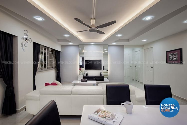 Amazing Contemporary, Minimalist Design   Living Room   HDB 5 Room   Design By  Weiken.