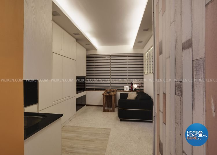 Contemporary, Modern, Rustic Design - Living Room - HDB Studio Apartment - Design by Weiken.com Design Pte Ltd