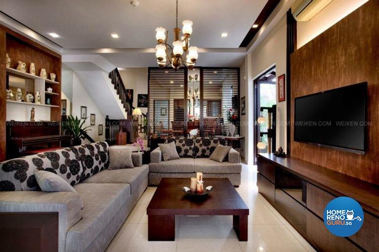 Contemporary, Country, Modern Design - Living Room - Landed House - Design by Weiken.com Design Pte Ltd