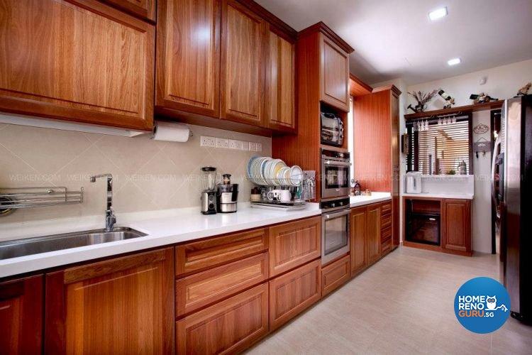 Contemporary, Country, Modern Design - Kitchen - Landed House - Design by Weiken.com Design Pte Ltd